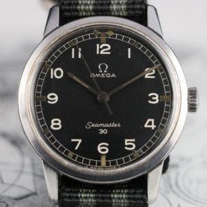 Vintage Omega Seamaster 30 135.007 - 64 - Black Military Dial - Cal 285