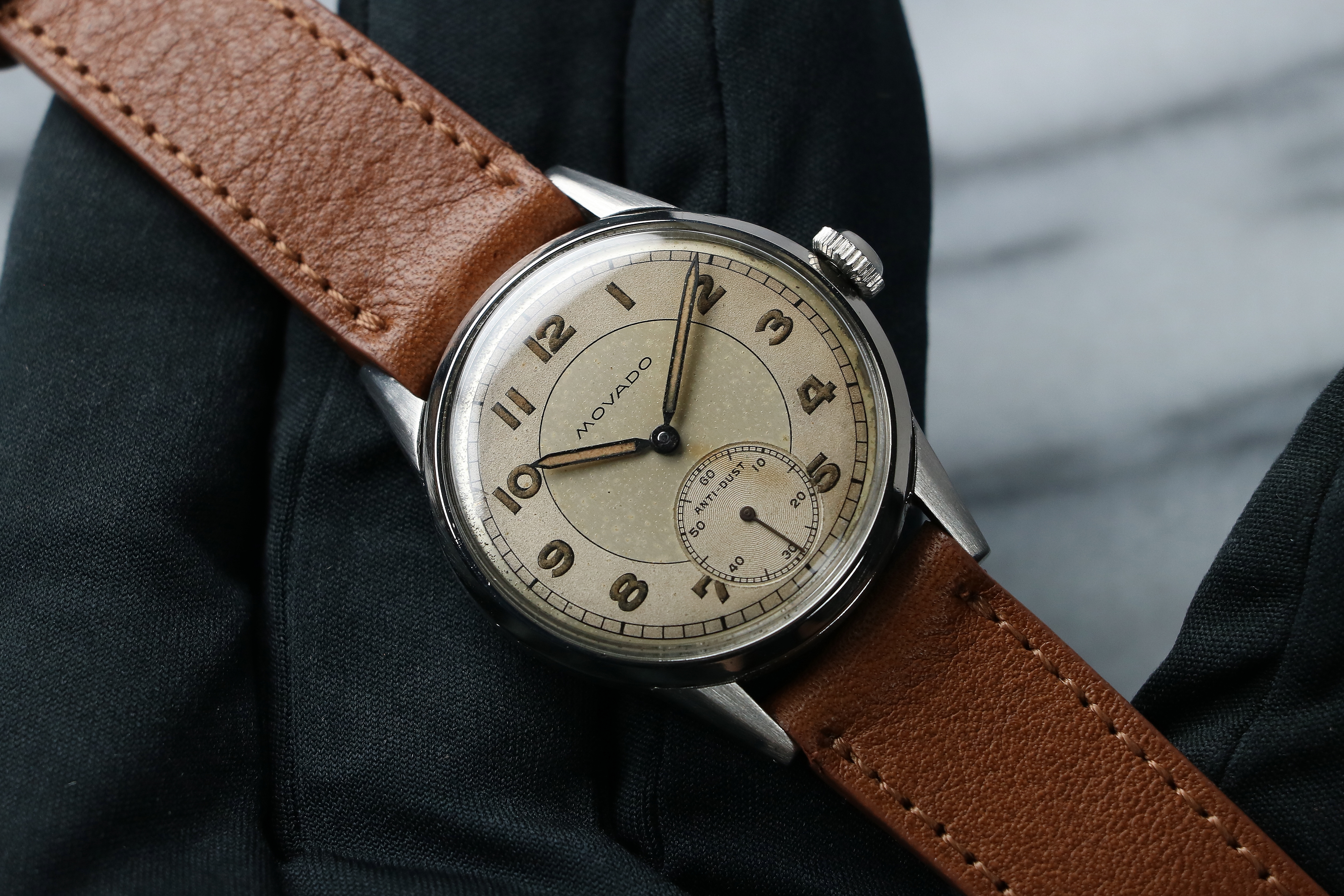 Vintage Watches For Sale >> 1940 S Movado Anti Dust Ref 18124